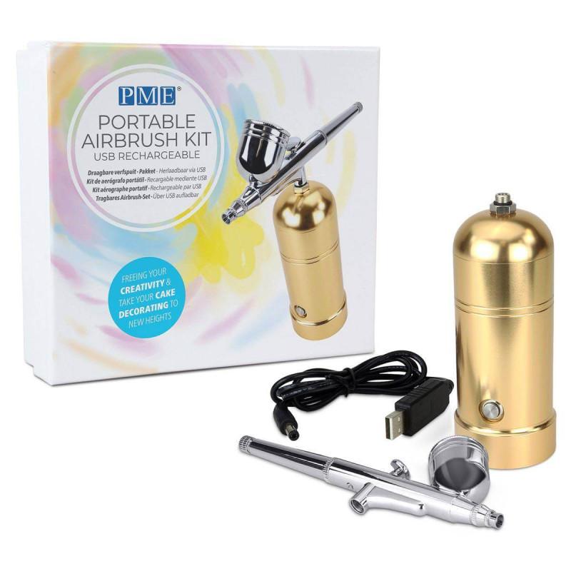 Pistola de aire comprimido portátil dorada PME