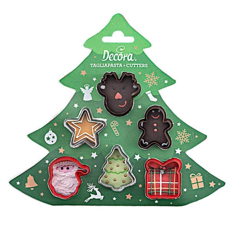 Set de 6 cortadores navideños