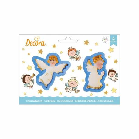 Set of 2 Christmas angel cutters