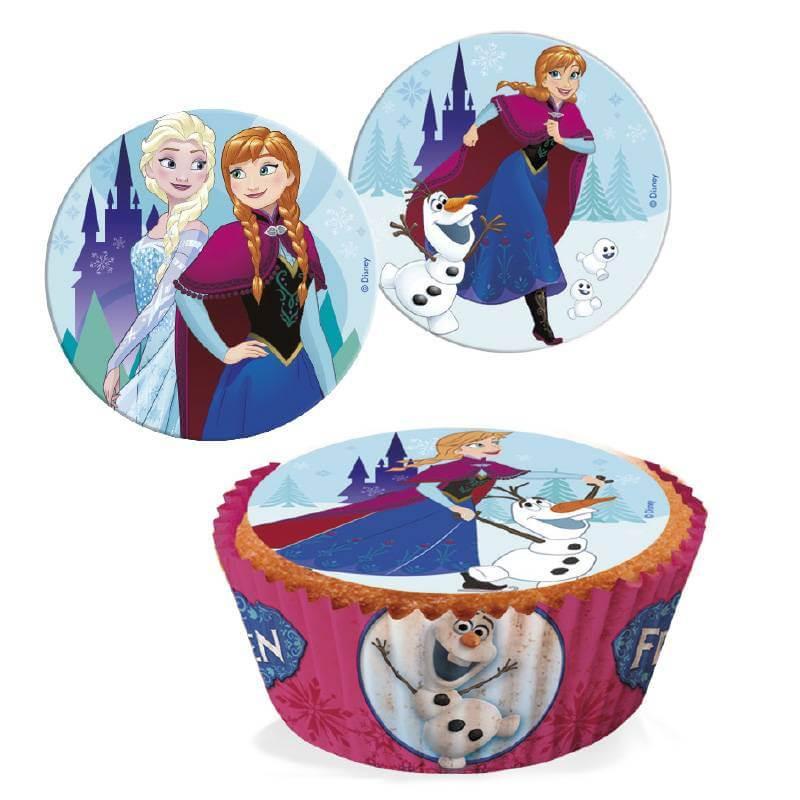 16 mini sugar discs La Reine des neiges