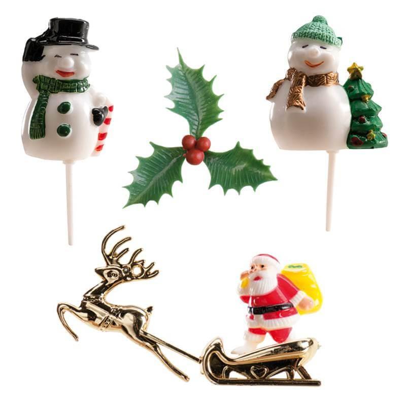 Kit de decoración de pasteles de Navidad