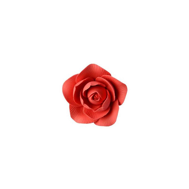 Flor de camelia roja 5 cm