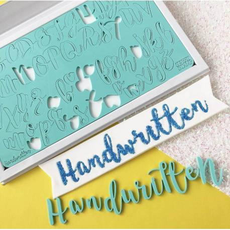 Embosser Upper and Lowercase Letters Sweet Stamp Handwritten