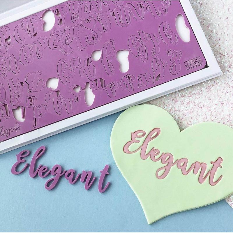 Placa Letras Mayúsculas para Impresión Sweet Stamp