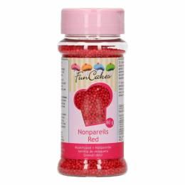 Micro billes en sucre rouge 80 g