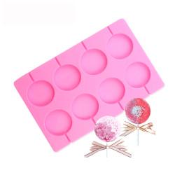 Moule en silicone pour sucettes x 8