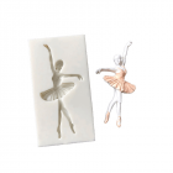 Moule en silicone danseuse ballerine