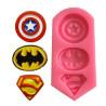 Moule en silicone 3 logos super héros
