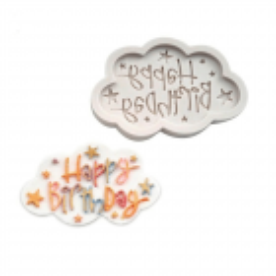 Moule en silicone nuage happy birthday
