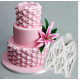 Silicone mould with draped fabric effect