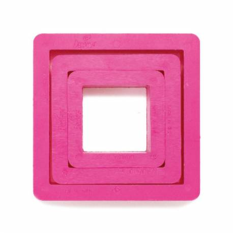 Set of 3 square cutters