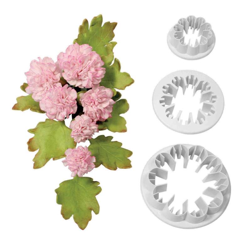 Juego de 3 recortes de flores de clavel PME