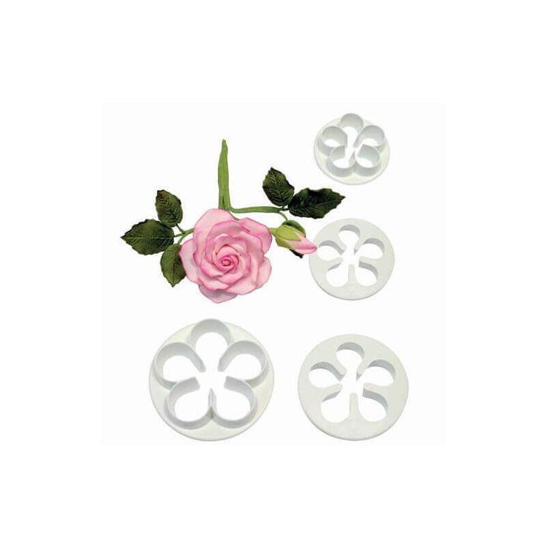 4 emporte-pièces pour fleur ROSE