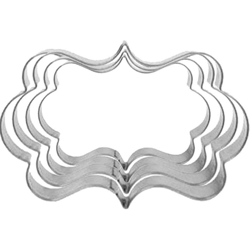 4 découpoirs métal plaques et encadrements