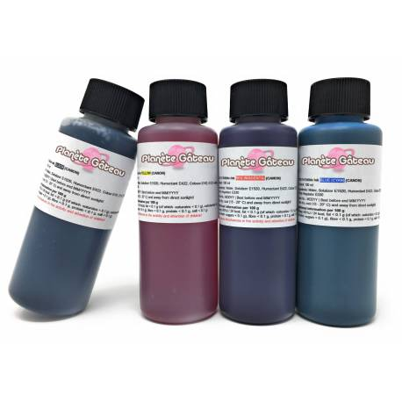 Edible Ink Refill Kit 4x100ml for CANON Cartridge