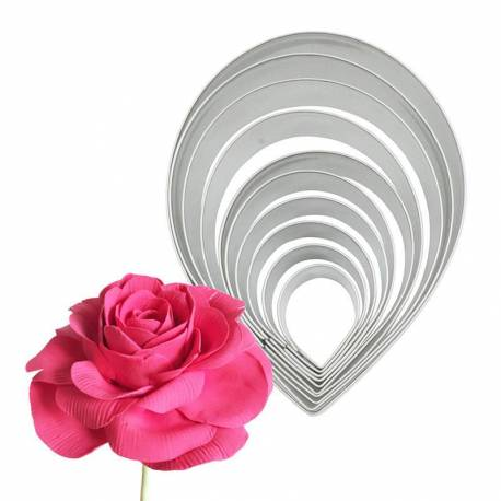 Set of 10 cutters large pink