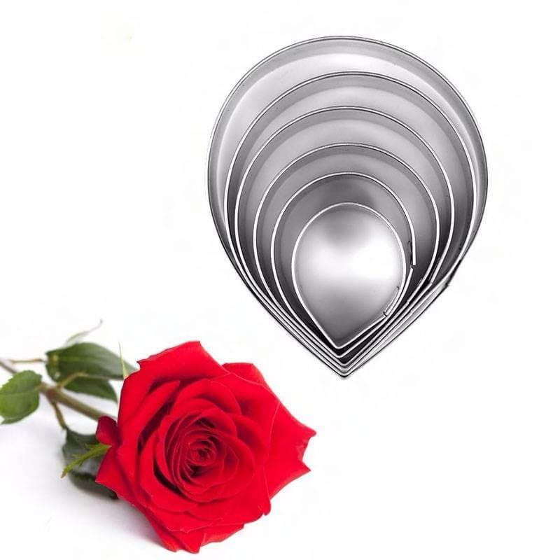 Emporte-pièces Rose fleur pétale - 6 tailles