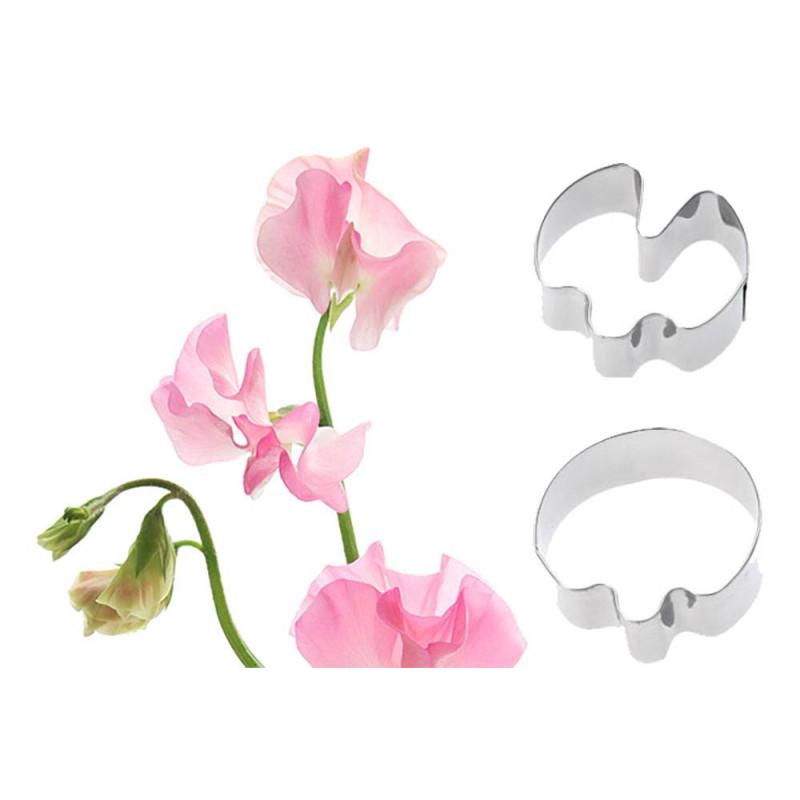 Set de 2 emporte-pièces fleur pois de senteur
