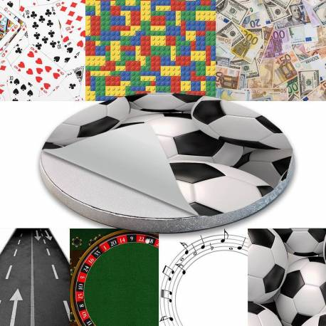 Cake board sticker - Games and sports