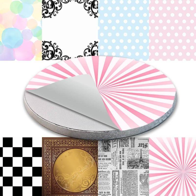 Décor autocollant pour Cake board - Motifs