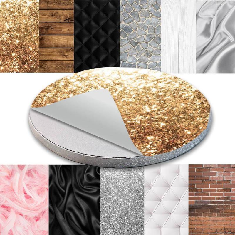 Decoración autoadhesiva para el Cake Board - Materiales y texturas