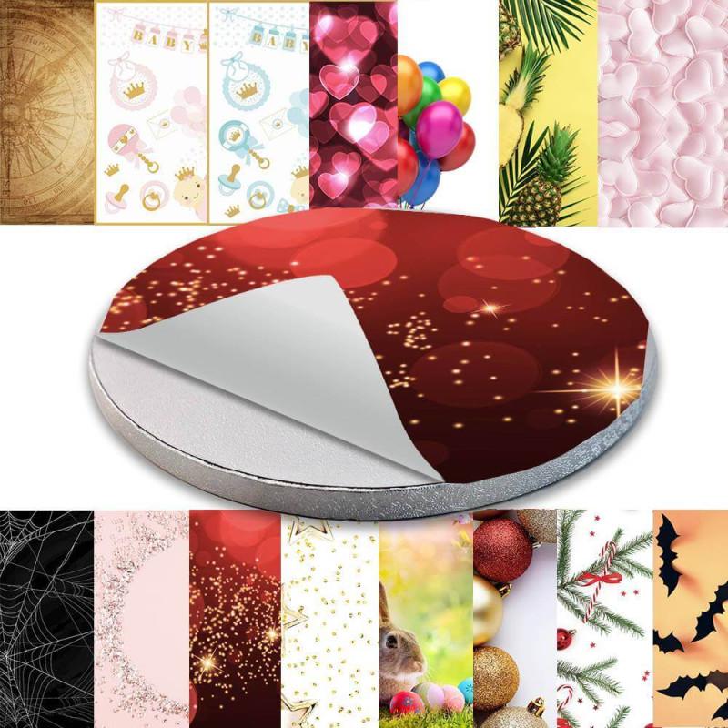 Cake board sticker decoration - Holidays