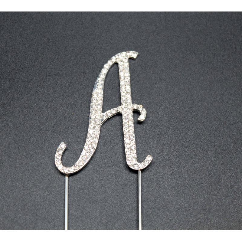 Topper rhinestone letters 7cm for cake