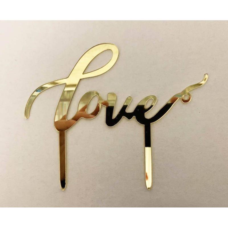 Topper LOVE gold 12cm