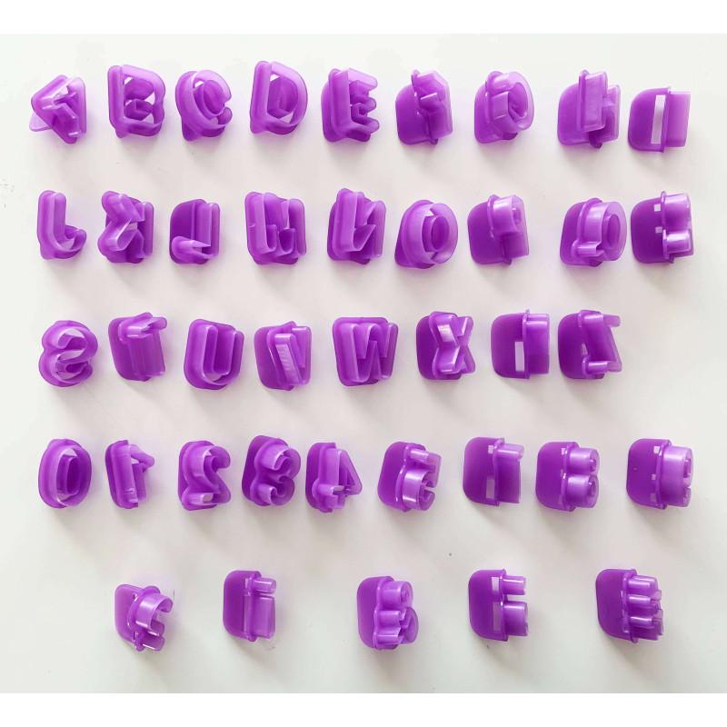 Set 40 d'emporte-pièces alphabets et chiffres