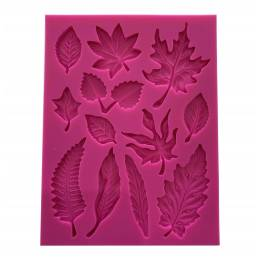 Silicone mould 12 tree leaves