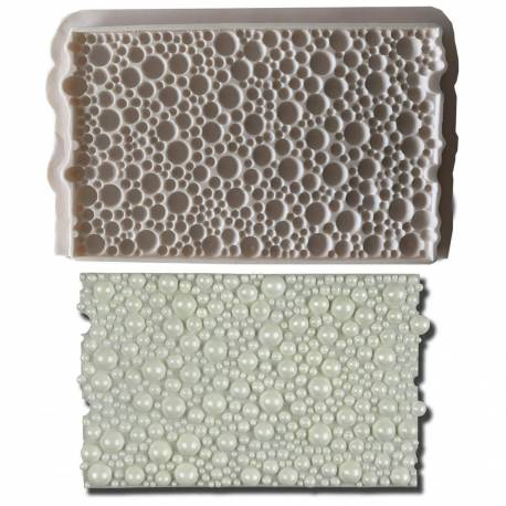 Mould with bubble and pearl print