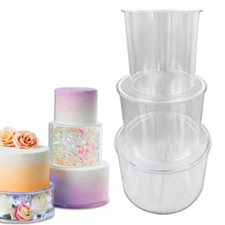 Transparent acrylic cake separator stage