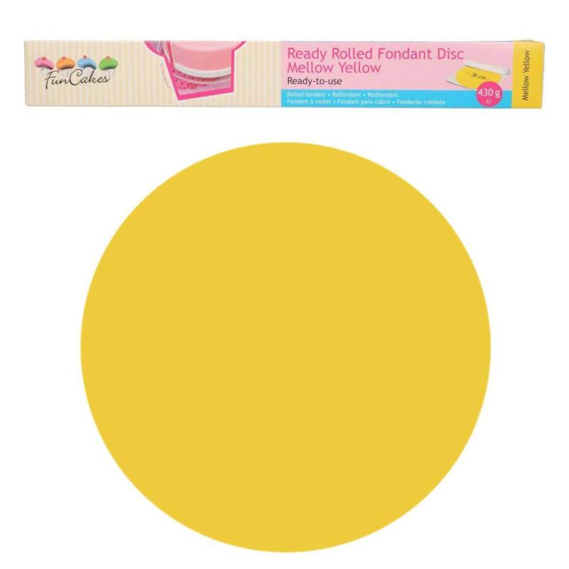 Fondant lista para usar Amarillo Funcakes