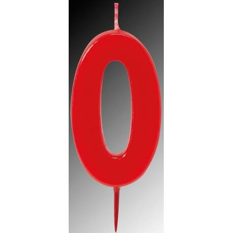 6cm Red Number Candles for Cake