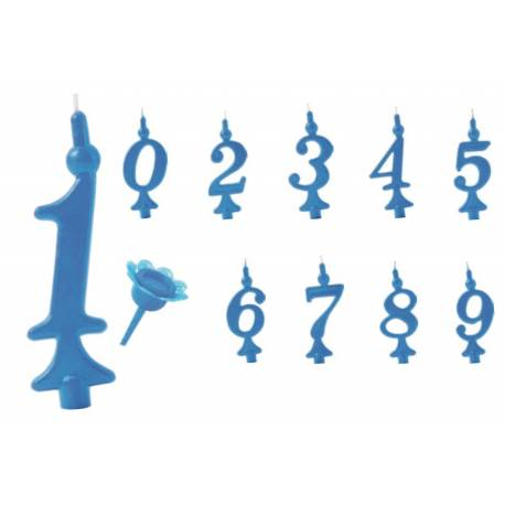 Candle Figures italic blue 11cm for cake