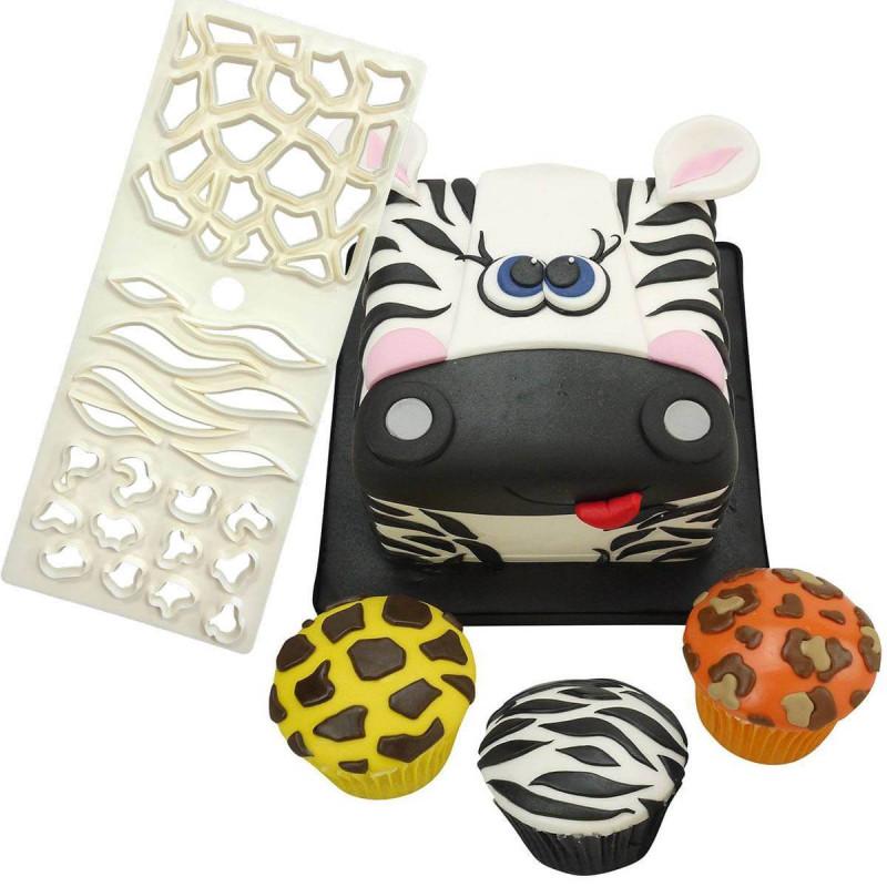 Punch 3 designs of jungle animal skins