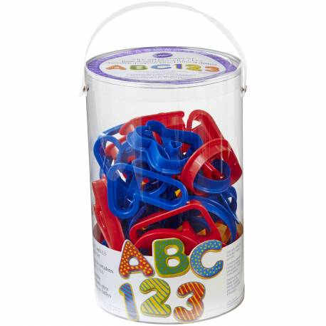 40 ALPHABET cutters letters and numbers WILTON