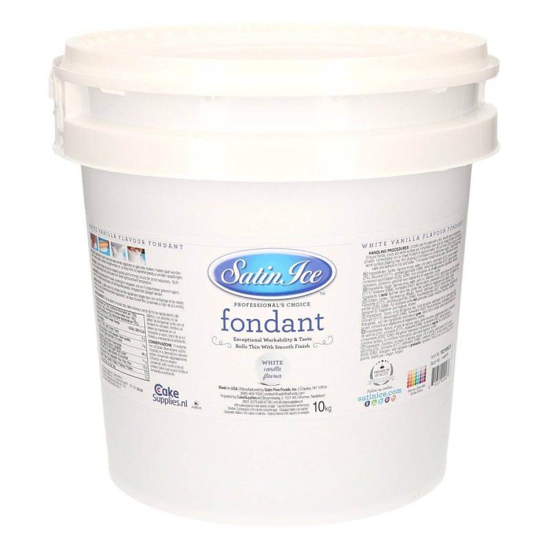 Pâte à sucre Satin Ice BLANC gout vanille - 10kg