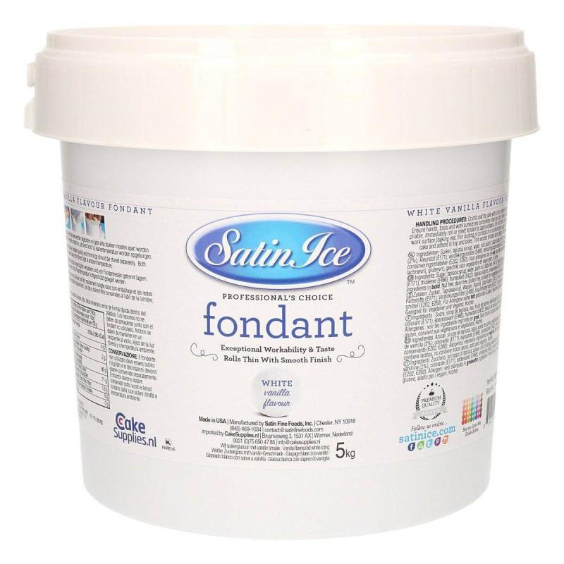 Sugar dough Satin Ice WHITE vanilla flavour - 5kg