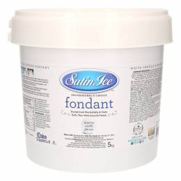 Sugar dough Satin Ice WHITE vanilla flavour - 2.5kg