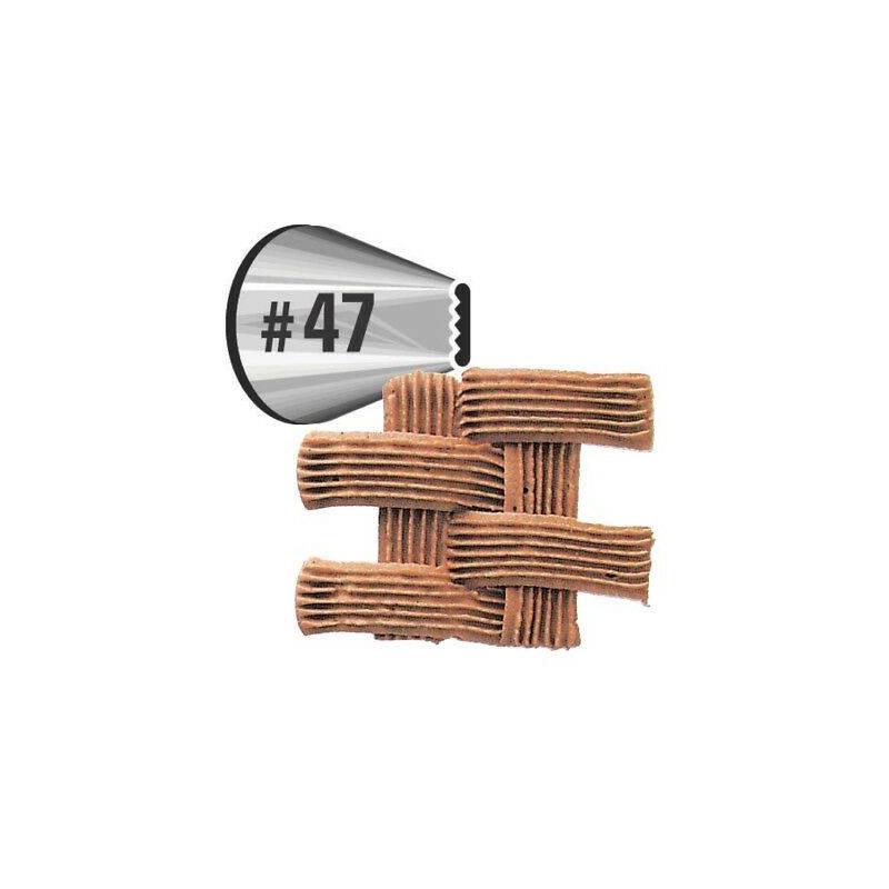 Boquilla para tejido de cesta Wilton N° 47