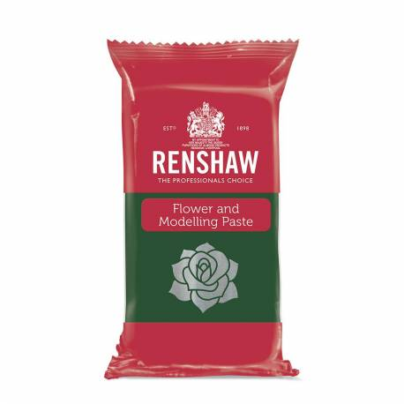 Pasta de flores y modelado Renshaw oscuro VERDE 250g