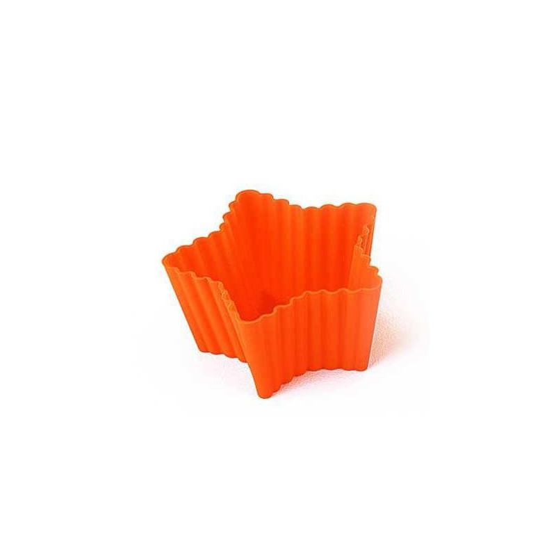 6 Caissettes en silicone Moules Cupcakes ETOILE