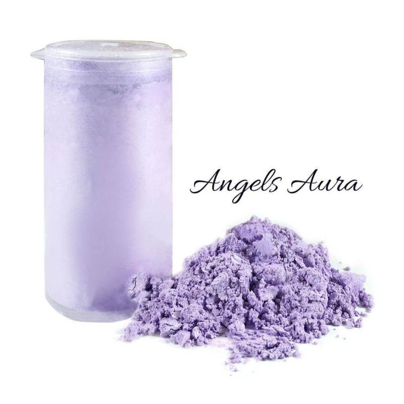Glittering lila powder dye