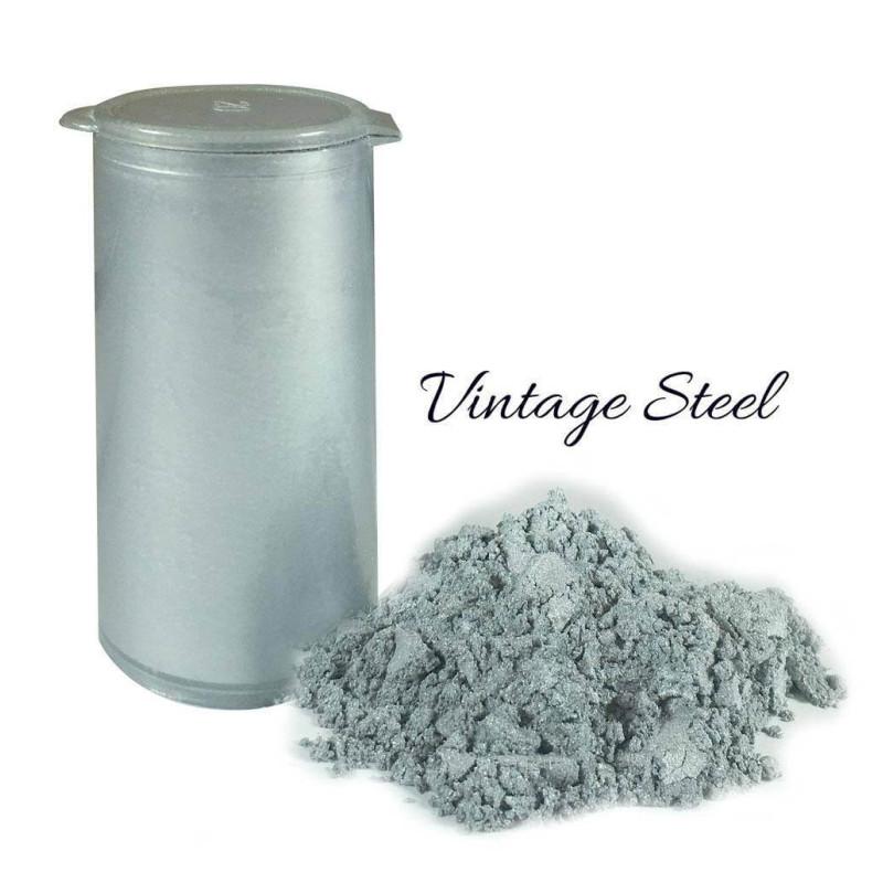 Polvo colorante en polvo vintage plateado brillante