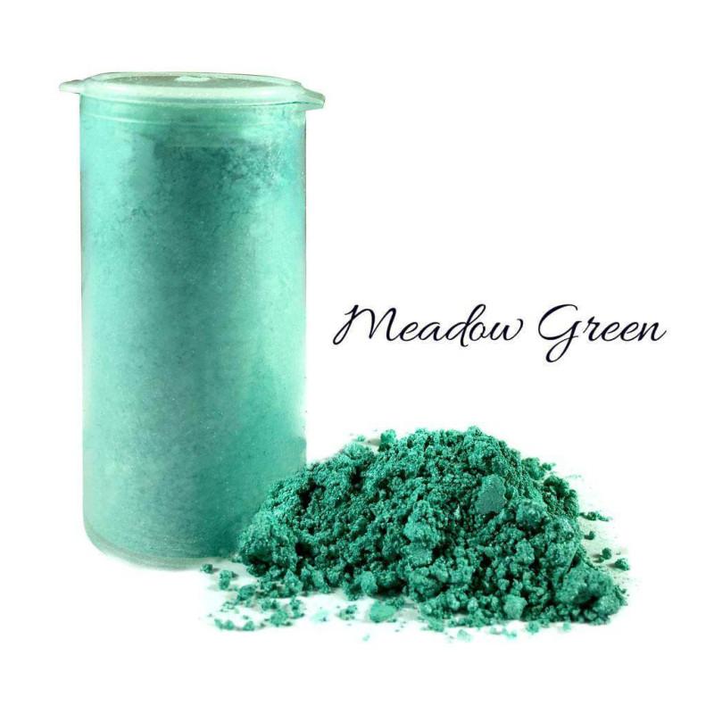 Tinte de polvo verde de pradera brillante