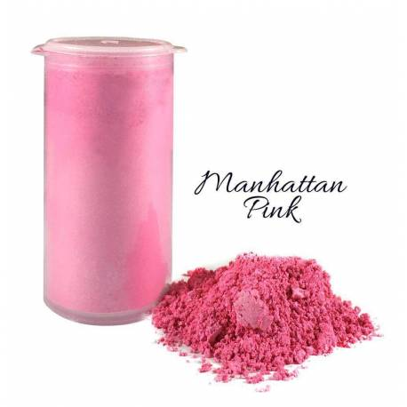 Colorant en poudre scintillant rose Manhattan Crystal Candy