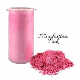 Colorant en poudre scintillant rose Manhattan