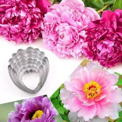 Set de 7 emporte-pièces fleur pivoine