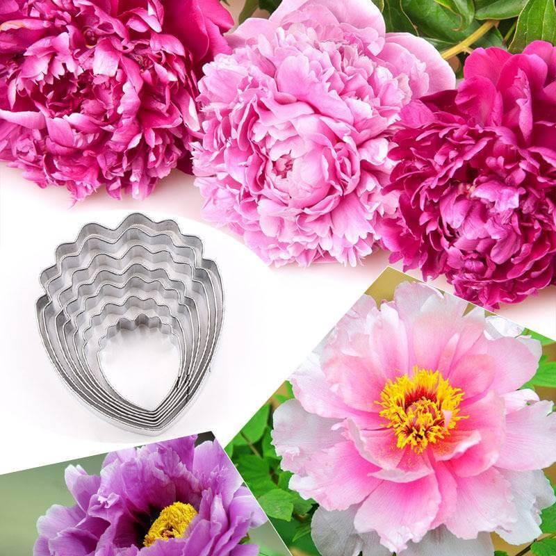 Emporte-pièces fleur Pivoine - 7 tailles